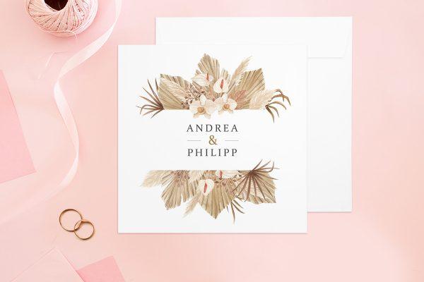 Hochzeitseinladungen Hochzeitseinladungen Rosenpracht Orientalisch