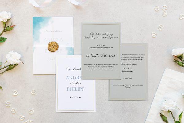 Hochzeitseinladungen Hochzeitseinladungen Himmel Wolkig