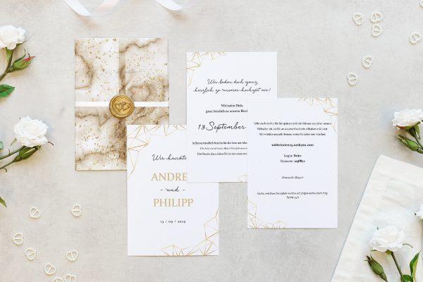 Hochzeitseinladungen Hochzeitseinladungen Batik Funkeln