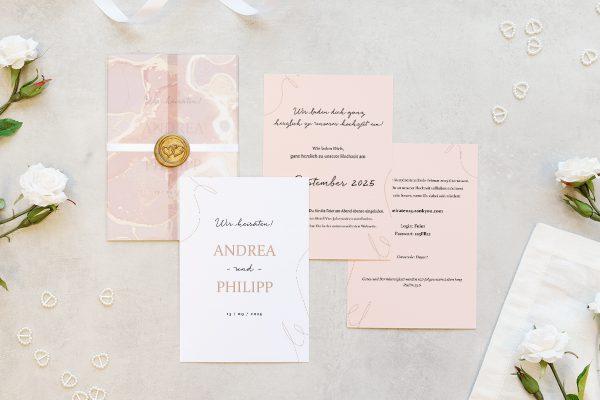 Hochzeitseinladungen Hochzeitseinladungen Aprikosen Explosion Schick