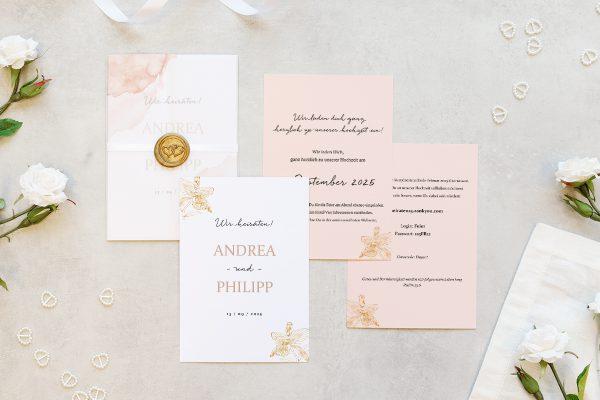 Hochzeitseinladungen Hochzeitseinladungen Aprikosen Explosion Edel