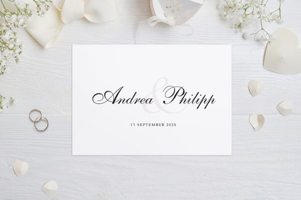 Hochzeitseinladungen Hochzeitseinladungen Klassisch Verbunden