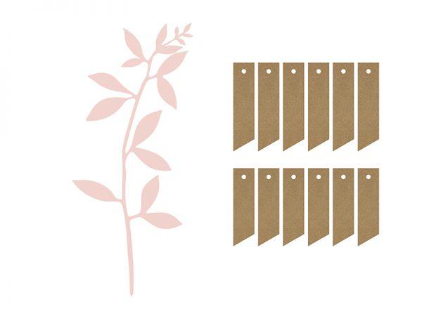 Deko und Geschenke Shop Zweig mit Blätterdekoration