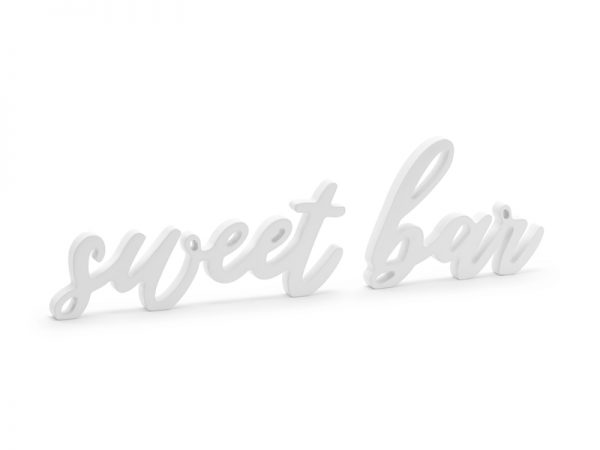 Deko und Geschenke Shop Holzaufschrift Sweet bar