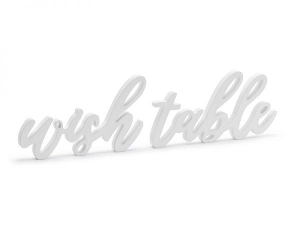 """Deko und Geschenke Shop Holzschrift """"Wish Table"""""""