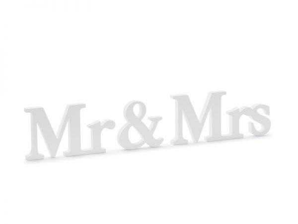 Deko und Geschenke Shop Holzinschrift Mr & Mrs