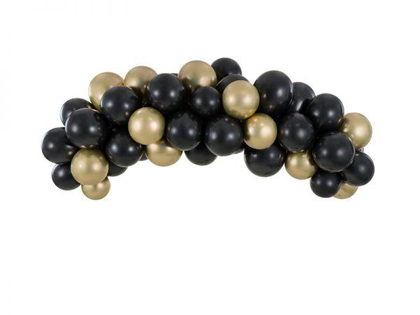 Deko und Geschenke Shop Ballongirlande - schwarz-gold