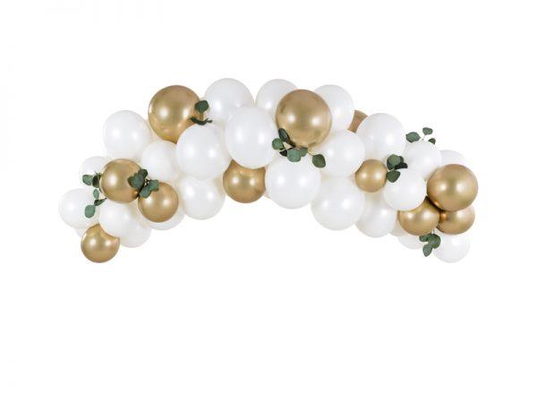 Deko und Geschenke Shop Ballongirlande - Weiß & Gold
