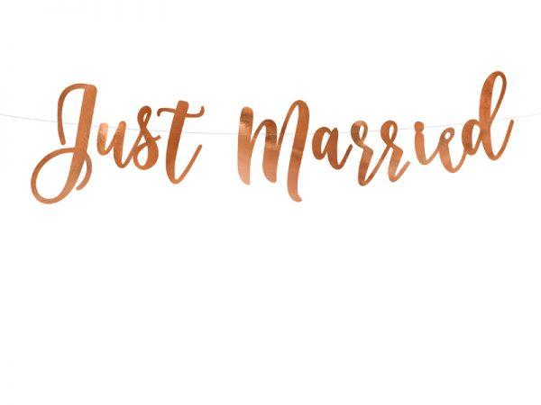 Deko und Geschenke Shop Banner Just Married