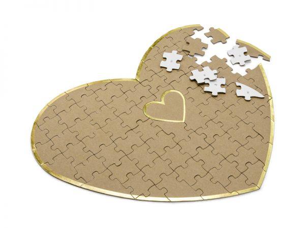 Deko und Geschenke Shop Gästebuchpuzzle - Herz