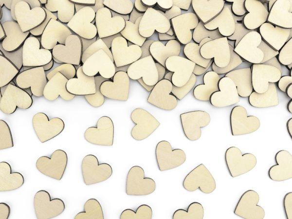 Deko und Geschenke Shop Konfetti-Herzen aus Holz
