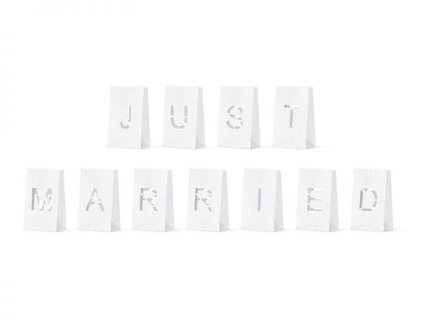 """Deko und Geschenke Shop Laternen mit Aufschrift """"Just Married"""""""
