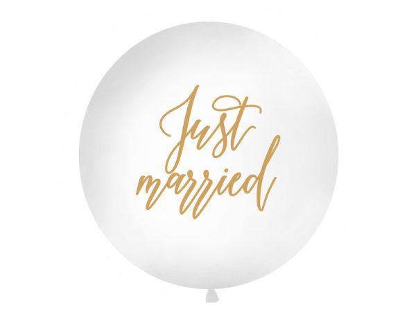 """Deko und Geschenke Shop Riesenballon 1 m """"Just Married"""""""