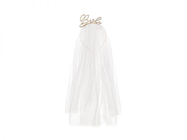 Deko und Geschenke Shop Brautschleier mit Metallstirnband Braut