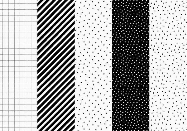 Deko und Geschenke Shop Geschenkpapier Gitter, Streifen Schwarz/Weiß
