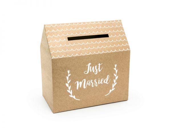 Deko und Geschenke Shop Hochzeitskartenbox - Just Married