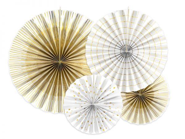 Deko und Geschenke Shop Dekorative Dekofächer Weiß Gold