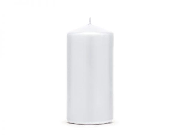 Deko und Geschenke Shop Stumpenkerze Weiß