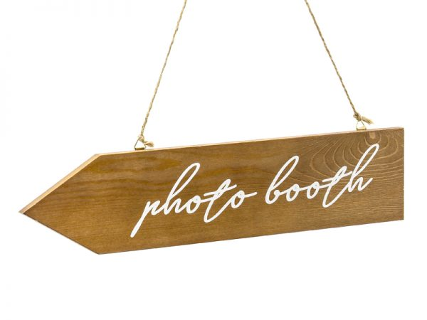 Deko und Geschenke Shop Holzwegweiser Fotokabine