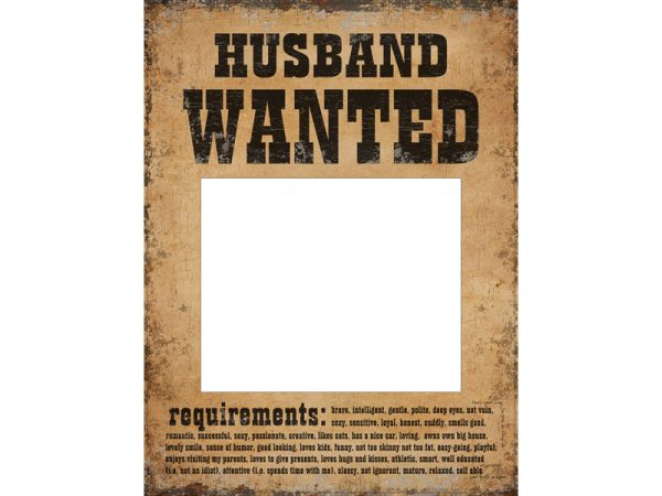 """Deko und Geschenke Shop """"Wanted"""" Poster Hochzeit"""
