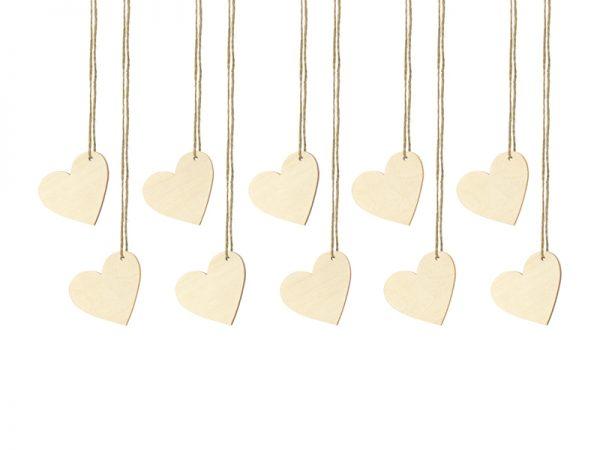 Deko und Geschenke Shop Tischkarten Herzen aus Holz