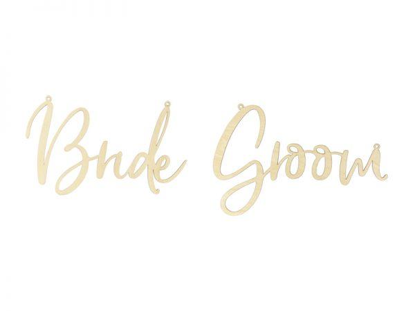 Deko und Geschenke Shop Stuhlschilder - Braut Bräutigam